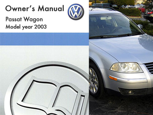 2003 volkswagen passat wagon owners manual in pdf rh dubmanuals com 2004 passat wagon owners manual 2004 passat wagon owners manual