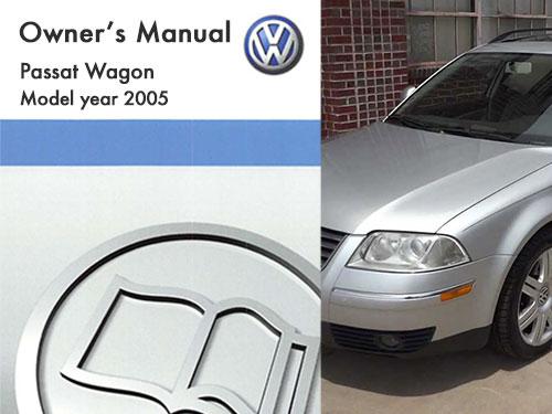 2005 Volkswagen Passat Wagon Owners Manual In Pdf