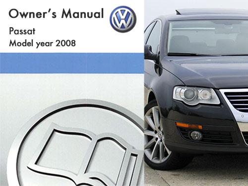 2008 Volkswagen Passat Owners Manual in PDF