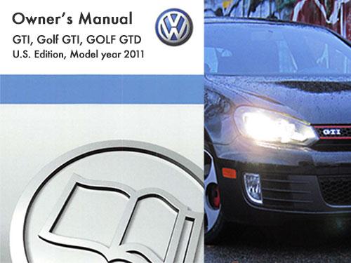 2011 volkswagen gti owners manual in pdf rh dubmanuals com 2016 Volkswagen Golf GTI 2010 Volkswagen Golf GTI