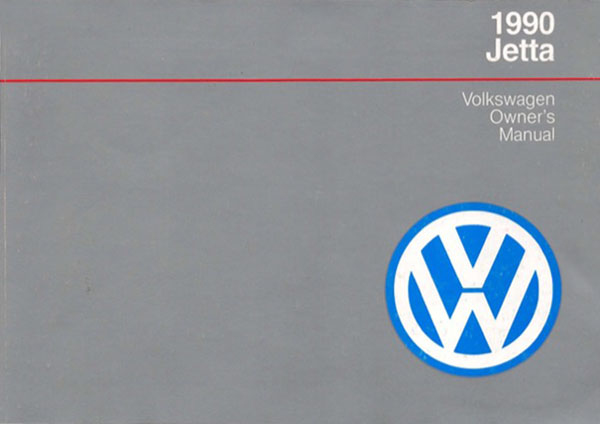 1990 Volkswagen Jetta English Owner's Manual Cover