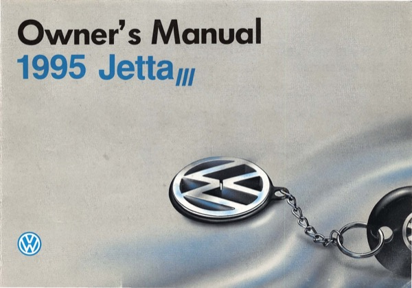 1995 Volkswagen Jetta English Owner's Manual Cover
