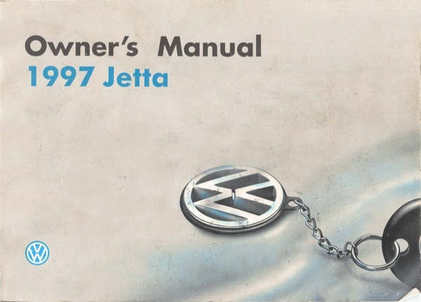 1997 Volkswagen Jetta English Owner's Manual Cover