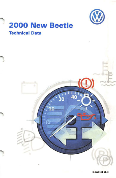 2000 Volkswagen Beetle English Technical Data Cover