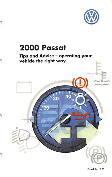 2000 Volkswagen Passat English Tips and Advice Cover