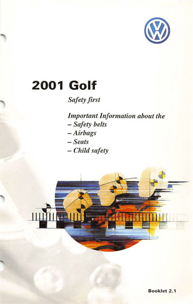 2001 Volkswagen Golf English Safety First Cover