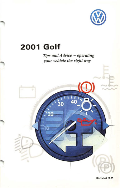 2001 Volkswagen Golf English Tips and Advice Cover