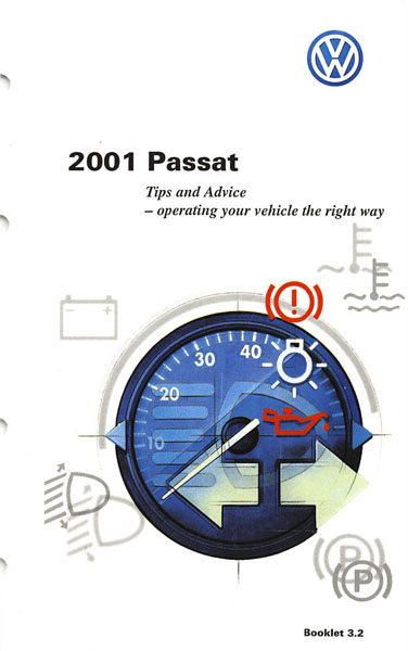 2001 Volkswagen Passat English Tips and Advice Cover