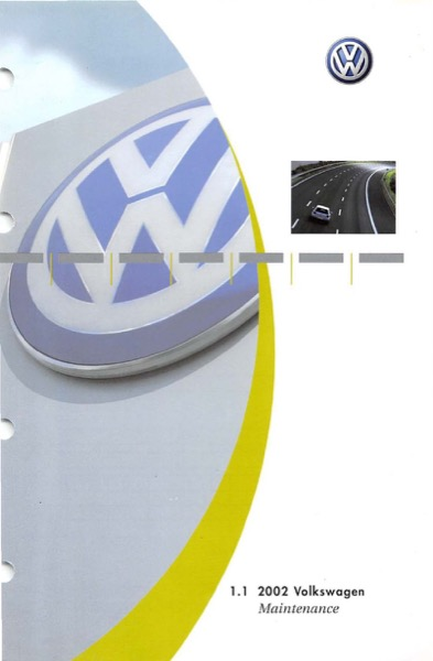 2002 Volkswagen Beetle English Maintenance Cover