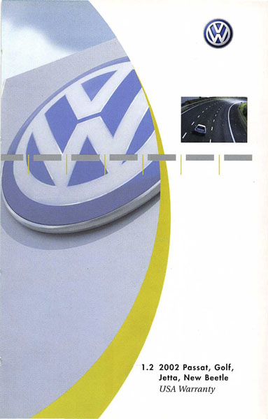 2002 Volkswagen Jetta English USA Warranty Cover