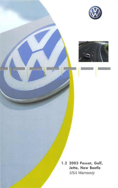 2003 Volkswagen Beetle English USA Warranty Cover