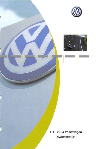 2004 Volkswagen Beetle Convertible English Maintenance Cover