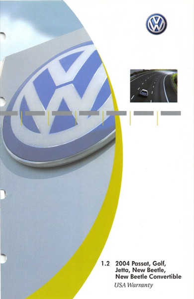 2004 Volkswagen Beetle Convertible English USA Warranty Cover