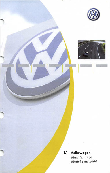 2004 Volkswagen Golf English Maintenance Cover