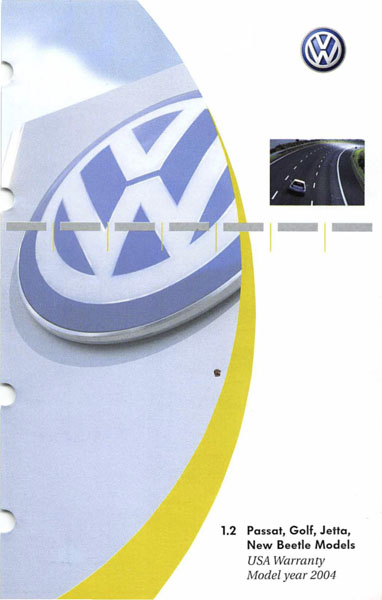 2004 Volkswagen Golf English USA Warranty Cover