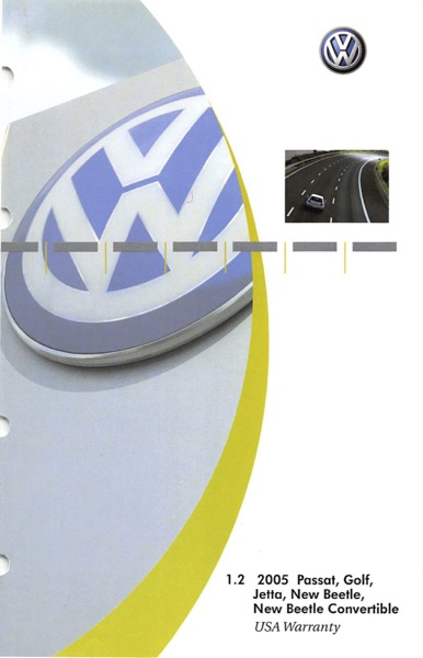 2005 Volkswagen Beetle English USA Warranty Cover