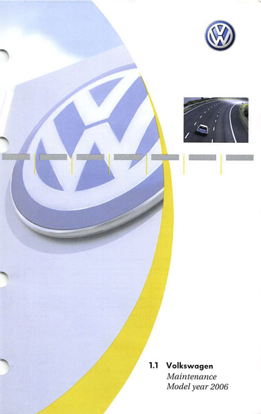 2006 Volkswagen Golf English Maintenance Cover