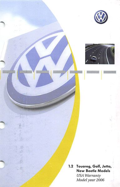 2006 Volkswagen Golf English USA Warranty Cover