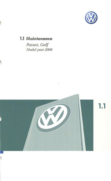 2006 Volkswagen GTI English Maintenance Cover