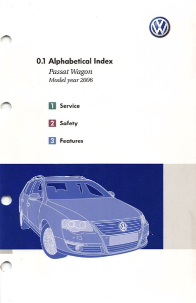 2006 Volkswagen Passat Wagon Owners Manual In Pdf