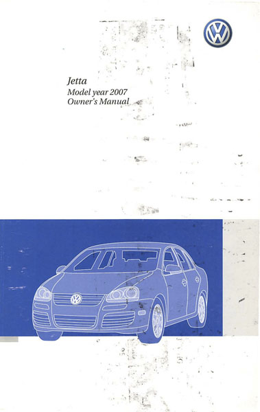 2007 Volkswagen Jetta English Owner's Manual Cover
