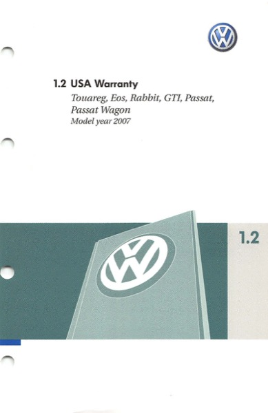 2007 Volkswagen Passat English USA Warranty Cover