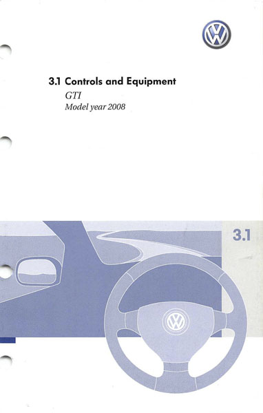 2008 Volkswagen GTI English Controls and Equipment Cover