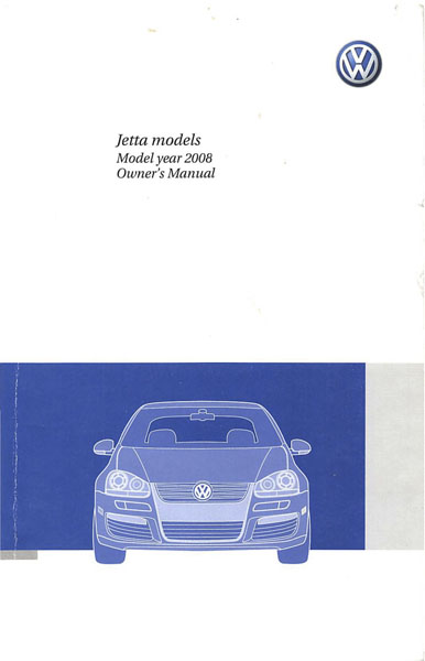 2008 Volkswagen Jetta English Owner's Manual Cover