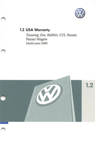 2008 Volkswagen Passat English USA Warranty Cover