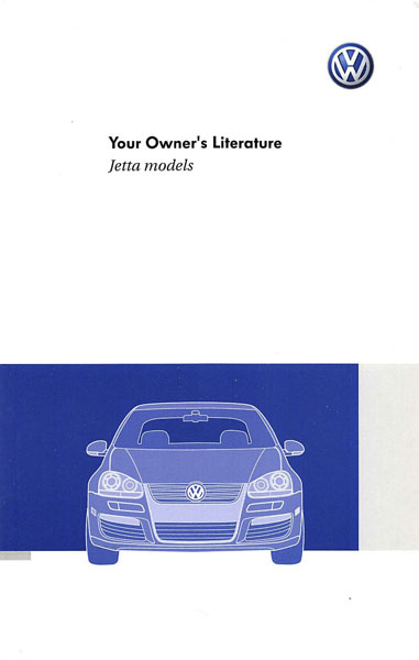 2009 Volkswagen Jetta English Your Owner's Literature Cover