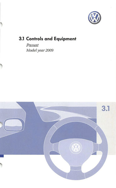 2009 Volkswagen Passat English Controls and Equipment Cover