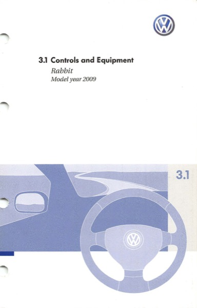 2009 Volkswagen Rabbit English Controls and Equipment Cover