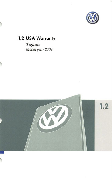 2009 Volkswagen Tiguan English USA Warranty Cover