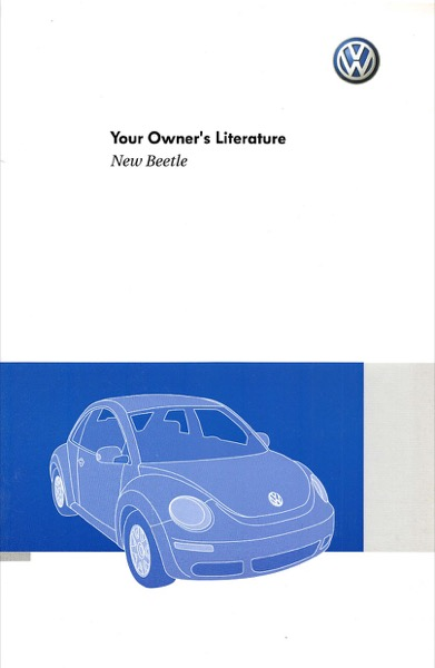 2010 Volkswagen Beetle English Owner's Literature Cover