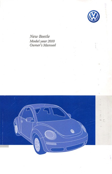 2010 Volkswagen Beetle English Owner's Manual Cover