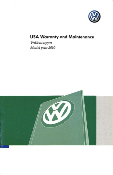 2010 Volkswagen Beetle English Warranty and Maintenance Cover