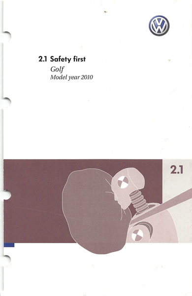 2010 Volkswagen Golf English Safety First Cover