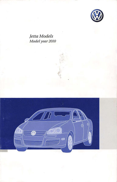 2010 Volkswagen Jetta English Owner's Manual Cover