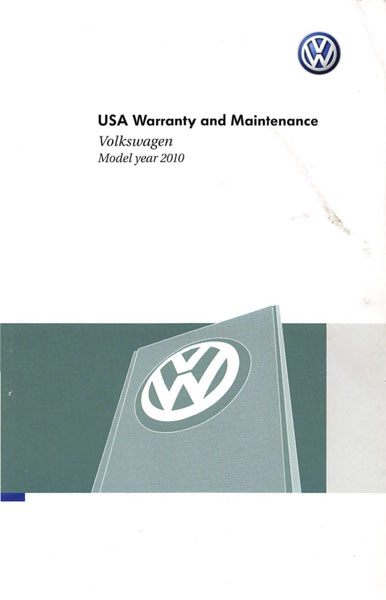 2010 Volkswagen Jetta English USA Warranty and Maintenance Cover