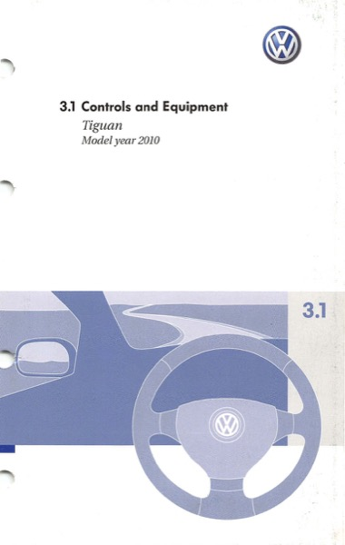 2010 Volkswagen Tiguan English Controls and Equipment Cover
