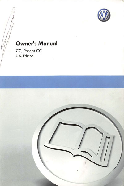 2011 Volkswagen CC English Owner's Manual Cover