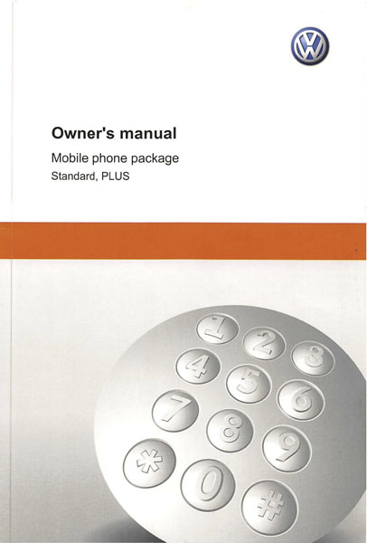 2011 Volkswagen Golf English Mobile Phone Package Cover