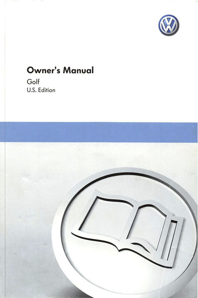 2011 Volkswagen Golf English Owner's Manual Cover