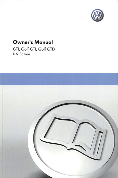 2011 Volkswagen GTI English Owner's Manual Cover