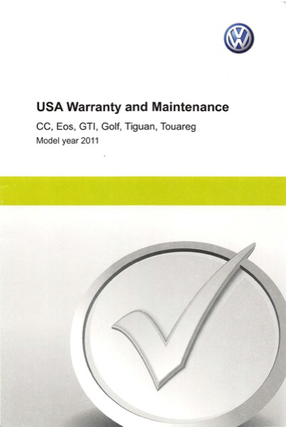 2011 Volkswagen Tiguan English USA Warranty and Maintenance Cover