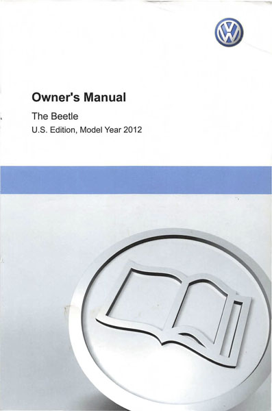 2012 Volkswagen Beetle English Owner's Manual Cover