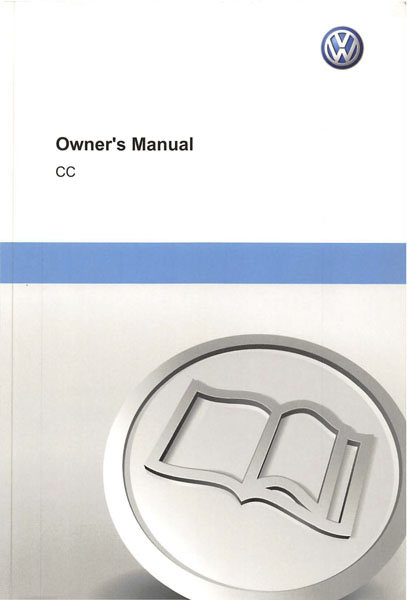 2012 Volkswagen CC English Owner's Manual Cover