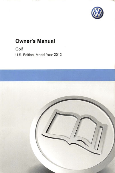 2012 Volkswagen Golf English Owner's Manual Cover