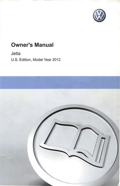 2012 Volkswagen Jetta English Owner's Manual Cover