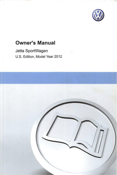 2012 Volkswagen Jetta Sportwagen English Owner's Manual Cover